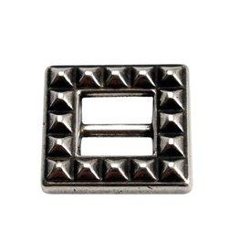 CDQ Gesp vierkant zilverkleur