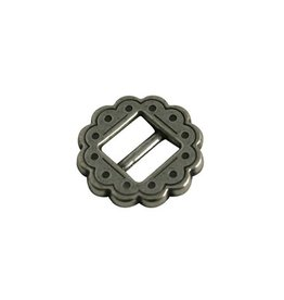 CDQ buckle  round western 10mm silver plating