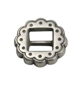 CDQ Gesp rond western 6mm zilverkleur