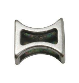 CDQ Ls leerschuiver zandloper 10mm zilverkleur