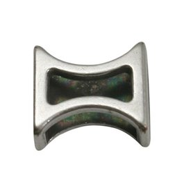 CDQ slider bead hourglass 10mm silver plating