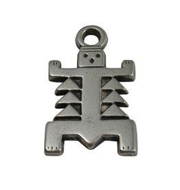 CDQ Azteken figuur silver plating