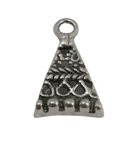CDQ Pendent triangle 28x16mm silver plating