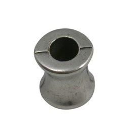 CDQ bead diabolo  silver plating 20 pieces