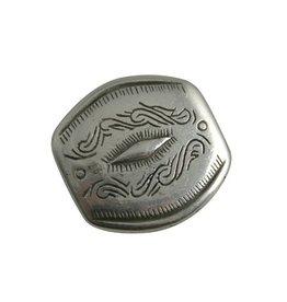 CDQ Inslag 28x29mm zilverkleur