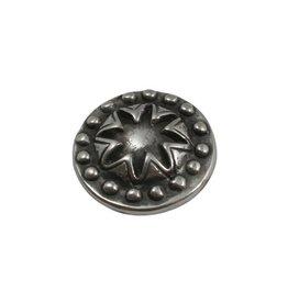 CDQ Ornament rond 21mm zilverkleur