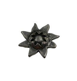 CDQ Ornament zon 33mm zilverkleur