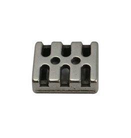 CDQ Ls leerschuiver 10mm modern zilverkleur