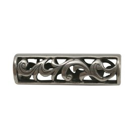 CDQ bead Big filigrain open silver plating