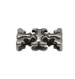 CDQ slider bead elegant 20x3mm silver plating