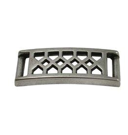CDQ Armband mit Diamant Platte patern 37x10mm Versilberung