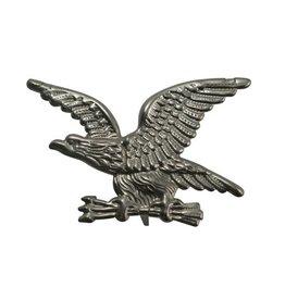 CDQ Adler button  pin Versilberung