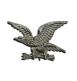 CDQ eagle buttonwith pin silver plating