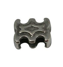 CDQ slider bead ornament 10mm silver plating