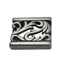 CDQ slider bead ornament 23X3mm silver plating
