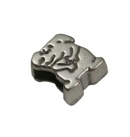 CDQ schieber perle zamak  6mm Hund zilver