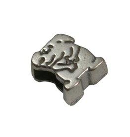 CDQ slider bead 6mm dog zilver