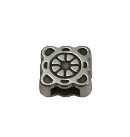 CDQ slider bead square  ornament 6mm