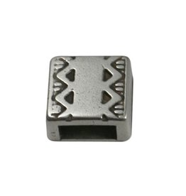 CDQ slider bead square  celtic edge 6mm