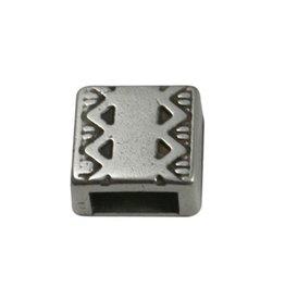 CDQ slider bead square  celtic edge 6mm