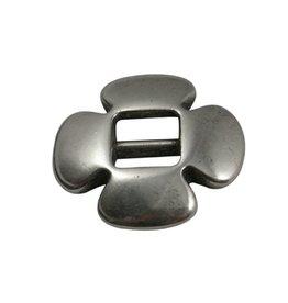 CDQ gesp schuiver 6mm clover zilver