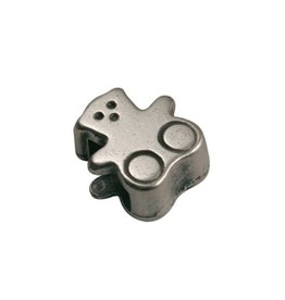 CDQ slider bead bear 6mm silver plating
