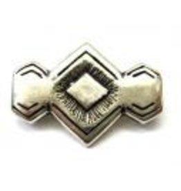 CDQ rivet 29x20mm silver plating