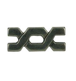 CDQ rivet bytes 29x9mm silver plating