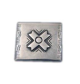 CDQ inslag X 34x30mm zilverkleur