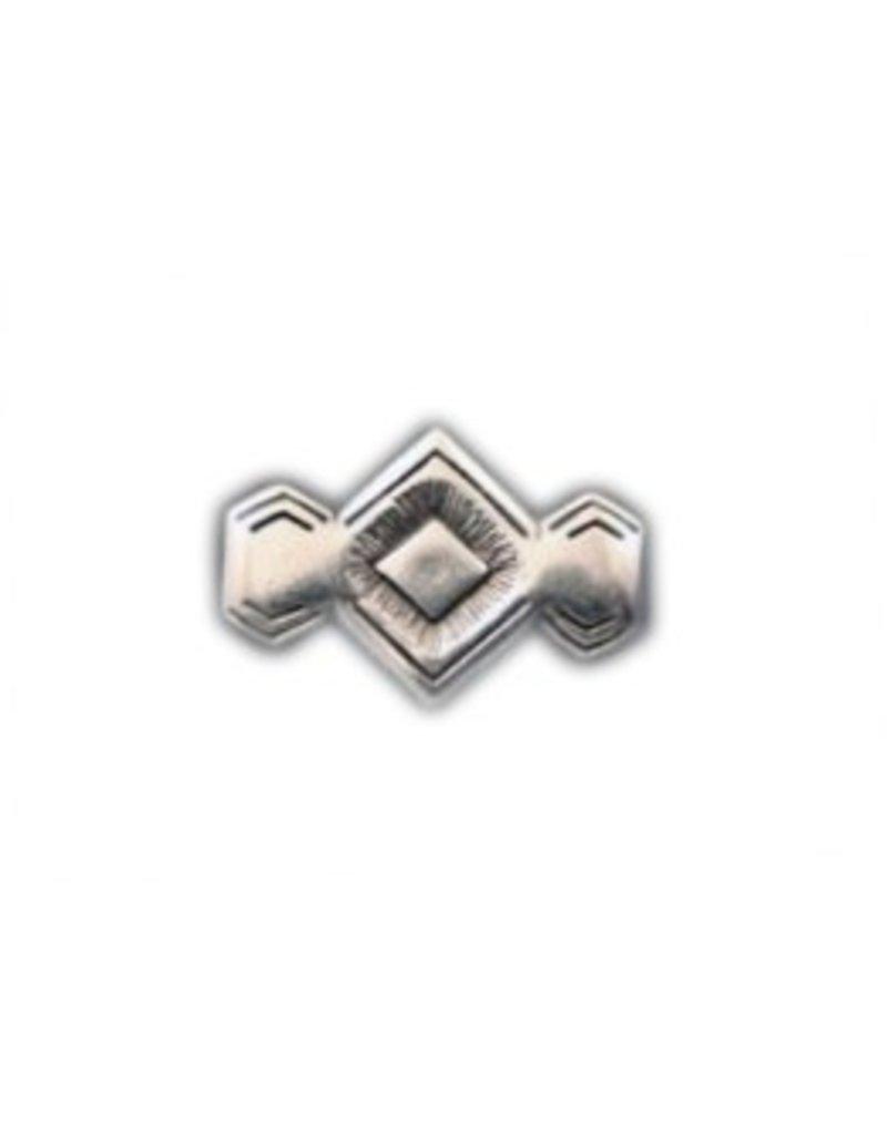 CDQ Niet zamak Diamant 29x20mm Versilberung