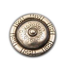 CDQ rivet round nippel 30mm silver plating