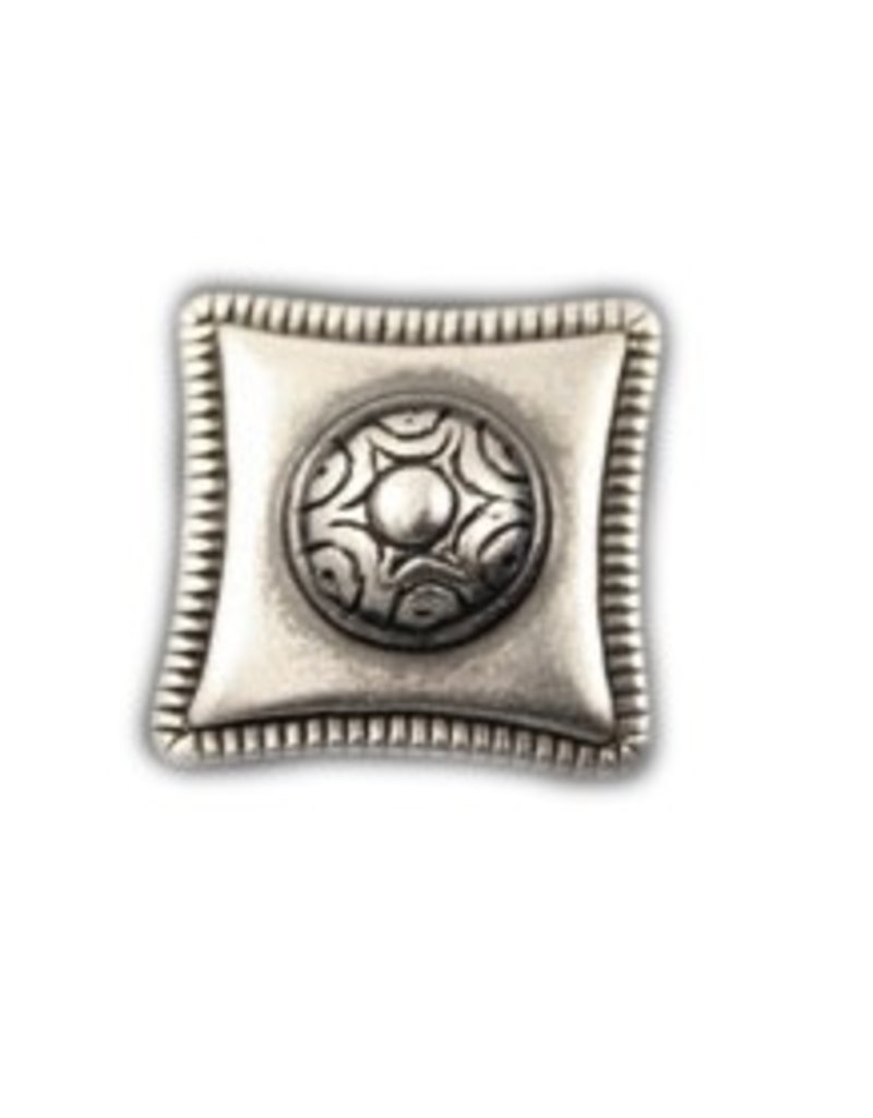 CDQ rivet square 23mm silver plating