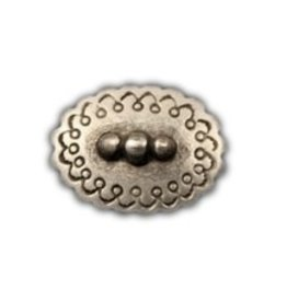 CDQ rivet oval 25mm silver plating