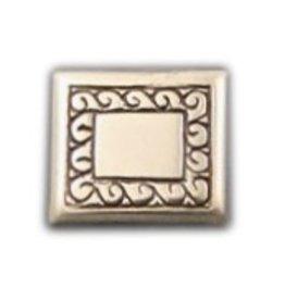 CDQ inslag tv 21x19mm zilverkleur