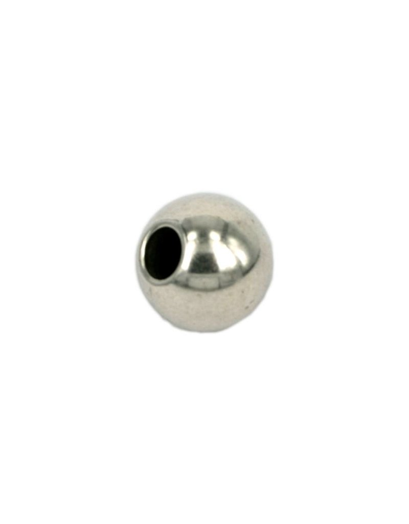 CDQ bead round 15mm silver plating