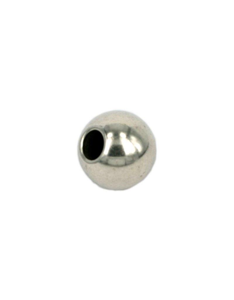CDQ kraal rond 15mm zilverkleur