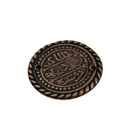 CDQ celtic coin 27mm copper plating.