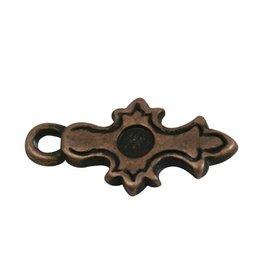 CDQ Keltisch kruisje brons kleur.