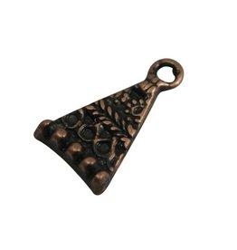 CDQ Hangertje driehoek brons kleur.