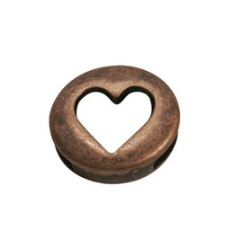 CDQ Heart je round copper plating.