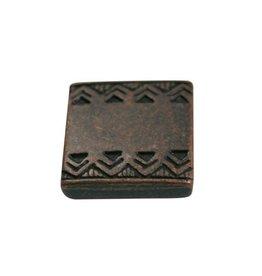 CDQ Ls leerschuiver vierkant keltische rand 13mm brons kleur