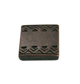 CDQ slider bead square  celtic edge 13mm copper plating