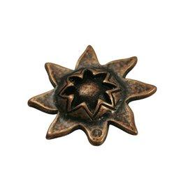 CDQ kraal zon 33mm brons kleur