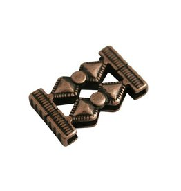 CDQ bead hourglass 33x14mm copper plating.