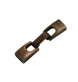 CDQ Metaal sluiting 2-delig 6mm brons kleur.