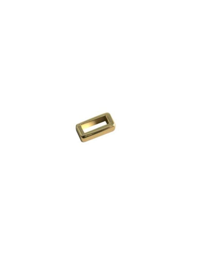 CDQ Ls leerschuiver 6mm Klein glad Goud