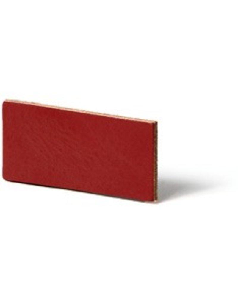 CDQ Leerstrook Nederlands splitleer 10mm Red  10mmx85cm verpakt per 4 stuks