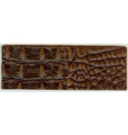 CDQ wristband leather brown crocodile print 14.5cmx50mm