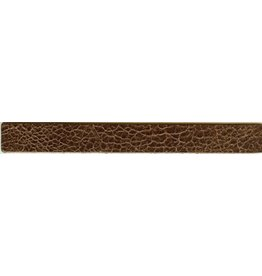 CDQ leather strap brown crackle 19mmx18cm