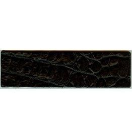 CDQ leerband croco zwart 50mmx14.5cm